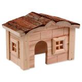 Domek SMALL ANIMALS dřevěný jednopatrový 20,5 x 14,5 x 12 cm 1ks
