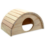 Domek SMALL ANIMALS půlkruh dřevěný 31 x 20 x 15,5 cm 1ks
