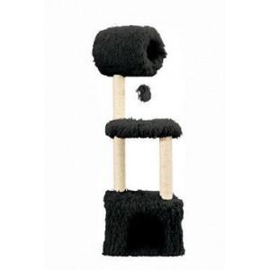 Škrábadlo YETI Rex cat tree černé 37x37x125 cm Zolux