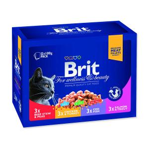 Kapsičky BRIT Premium Cat Family Plate 1200g