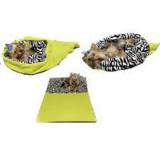 Spací pytel 3v1 pes kočka č. 6 sv.zelená/zebra
