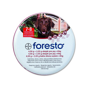 Obojek BAYER Foresto pro psy 70 cm + přívěsek ZDARMA