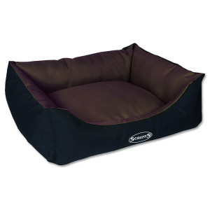 Pelíšek SCRUFFS Expedition Box Bed čokoládový M 1ks
