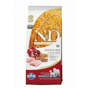 N&D Low Grain DOG Senior M/L Chicken&Pomegr 12 kg