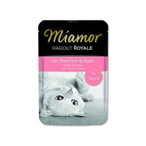 Kapsička MIAMOR Ragout Royale tuňák + kuře ve šťávě 100g