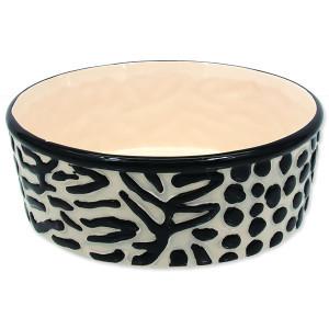 Miska DOG FANTASY keramická zebra 21,5 cm 1700ml