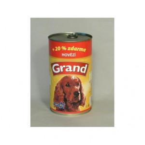 GRAND konzerva pes hovězí 1300 g