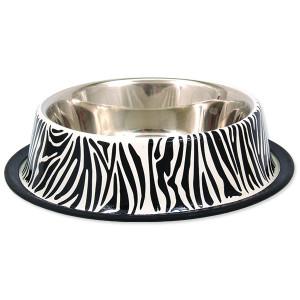 Miska DOG FANTASY nerezová s gumou zebra 23 cm 700ml