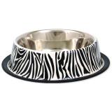 Miska DOG FANTASY nerezová s gumou zebra 29 cm