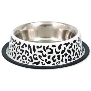 Miska DOG FANTASY nerezová s gumou leopard 25 cm 0,9l