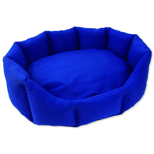 Pelíšek DOG FANTASY Koruna softshell modrý 70 cm 1ks