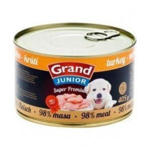 GRAND konzerva Superpremium Junior pes krůtí 405 g