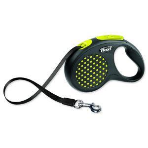 Vodítko FLEXI Design páska žluté S - 5 m 1ks