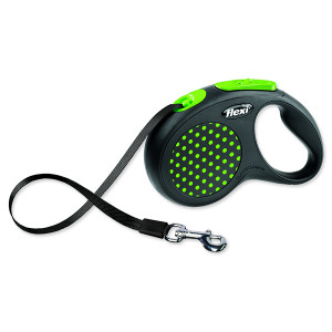 Vodítko FLEXI Design páska zelené S - 5 m 1ks