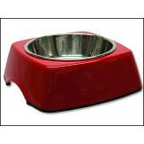 Miska DOG FANTASY nerezová čtvercová červená 18,5 cm 350ml