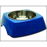 Miska DOG FANTASY nerezová čtvercová modrá 22,5 cm 700ml