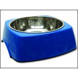 Miska DOG FANTASY nerezová čtvercová modrá 27,7 cm