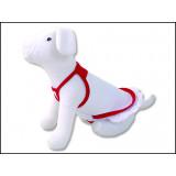 Šaty DOG FANTASY Summer bílo-červené M 1ks