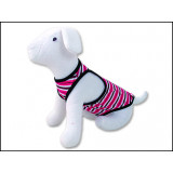 Šaty DOG FANTASY Summer proužkované S-M 1ks