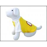 Triko DOG FANTASY Sport 08 žluté S 1ks