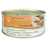 Konzerva APPLAWS Cat Jelly Chicken & Mackerel
