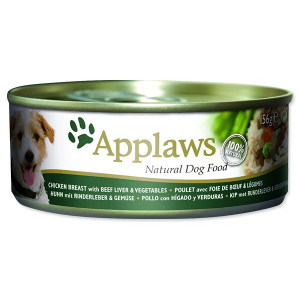 Konzerva APPLAWS Dog Chicken, Beef, Liver & Vegetables 156g