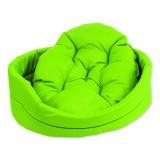 Pelíšek DOG FANTASY ovál s polštářem zelený 54 cm 1ks