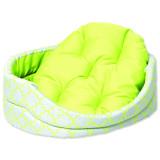 Pelíšek DOG FANTASY ovál s polštářem ornament zelený 93 cm 1ks