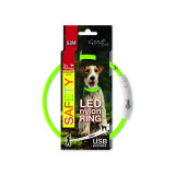 Obojek DOG FANTASY LED nylonový zelený S-M 1ks