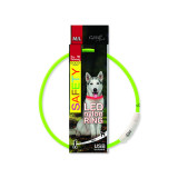 Obojek DOG FANTASY LED nylonový zelený M-L 1ks
