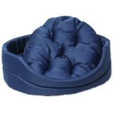 Pelíšek DOG FANTASY ovál s polštářem tmavě modrý 60 cm 1ks