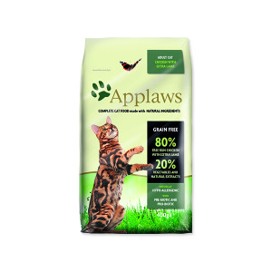Krmivo APPLAWS Dry Cat Chicken with Lamb 400g