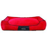 Pelíšek SCRUFFS Milan Memory Foam Box Bed světle červený XL 1ks
