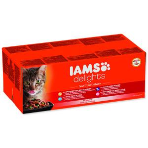 Kapsičky IAMS Cat výběr z mořských a suchozemských mas v omáčce multipack 4080g