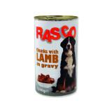 Konzerva RASCO Dog jehněčí kousky ve šťávě