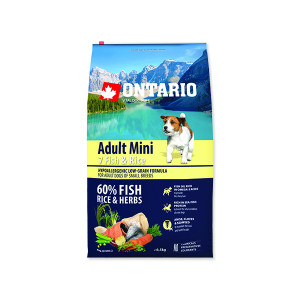 ONTARIO Adult Mini Fish & Rice 6,5kg + doprava zdarma