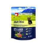 ONTARIO Dog Adult Mini Lamb & Rice 0,75kg