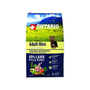 ONTARIO Adult Mini Lamb & Rice 6,5kg + doprava zdarma