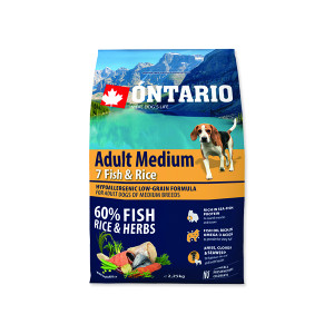 ONTARIO Dog Adult Medium Fish & Rice 2,25kg
