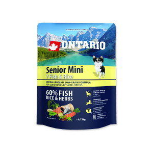 ONTARIO Senior Mini Fish & Rice 0,75kg