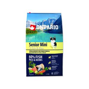 ONTARIO Senior Mini Fish & Rice 6,5kg + doprava zdarma