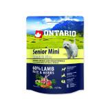 ONTARIO Senior Mini Lamb & Rice 0,75kg