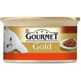 Gourmet Gold konzerva hovězí a kuře v rajčat.omáčce 85 g