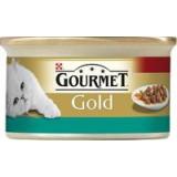 Gourmet Gold konzerva kousky losos a kuře 85 g