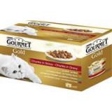 Gourmet Gold konzerva Multipack kousky masa ve šťávě 4 x 85 g