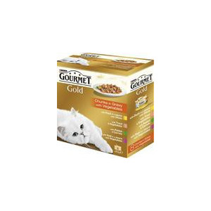 Gourmet Gold konzerva kousky masa Exotic Multipack 7 + 1 ks zdarma x 85 g