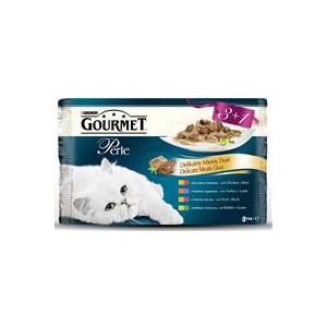 Gourmet Perle kapsičky DUO Multipack maso 4 x 85 g