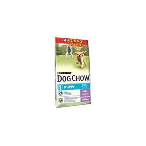 Purina Dog Chow Puppy Lamb+Rice 14 kg + 2,5 kg ZDARMA