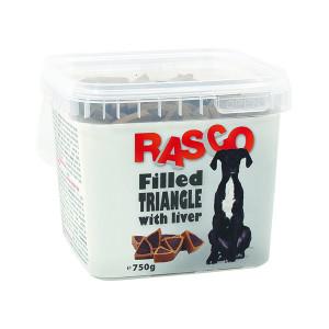 Pochoutka RASCO Dog plněné trojúhelníčky s játry 750g