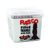 Pochoutka RASCO Dog plněné trojúhelníčky se šunkou 750g